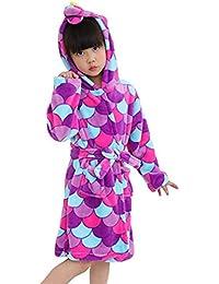 8 Years Unisex BAIYIXIN Kids Robe Girls Boys Soft Long Sleeve Hooded Plush Fleece Bathrobe 1 Toddler