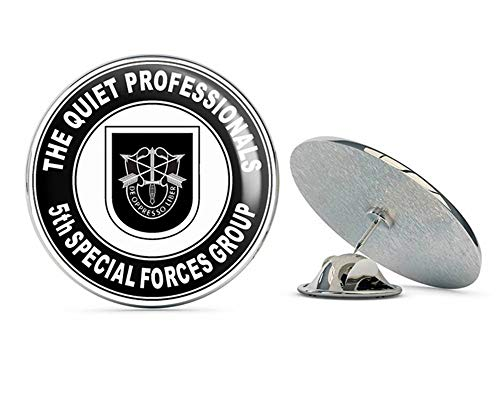 Veteran Pins US Army 5th Special Forces Group Quiet Professionals Metal 0.75