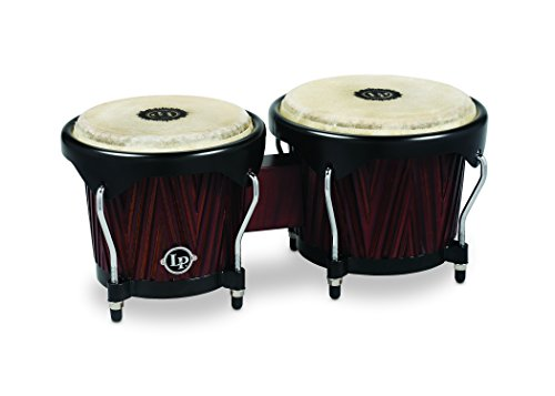 Latin Percussion LP601NY-CMW City Series Carved Mango/Mahogany - Rawhide Bongo