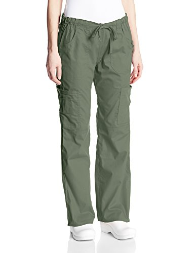 Signature Drawstring Pants - Dickies Women's EDS Signature Low Rise Drawstring Cargo Pant, Olive, X-Large