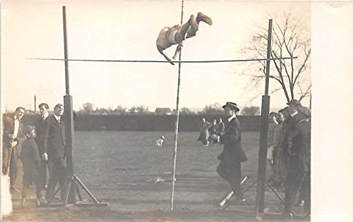 Pole Vaulter, Dickinson, Carlisle, PA USA Real Photo Old Vintage Gymnastics Postcard Post Card