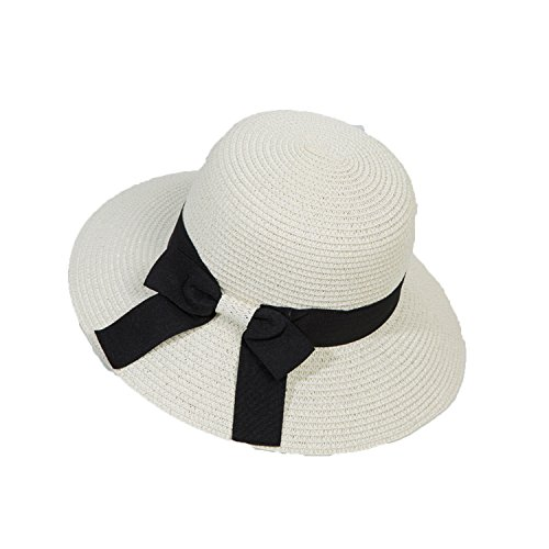 Heart .Attack New Butterfly Sun Hat Cap Pepper Female Summer Holiday Leisure Beach Hat,D-117 Big Bow tie White