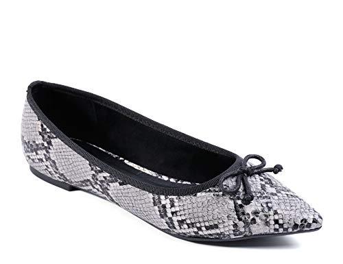 MaxMuxun Women Shoes Pointed Toe Slip On Classic Ballet Flats Black Snake Print Size - Ballet Snake Flat Print