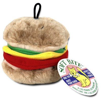 - Medium Burger Dog Toy