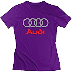 Women's Audi Logo T Shirt Purple