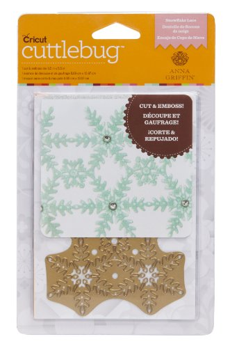 (Cuttlebug A2 Snowflake Lace Cut and Emboss Dies for Artwork)