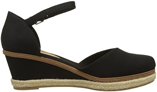 Hilfiger Nero Elba Espadrillas Black Tommy Toe Donna 990 Iconic Basic Closed HqZwPf6