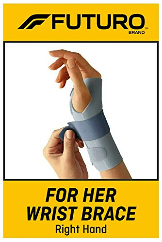 FUTURO -95346EN For Her Wrist Brace, Helps Support Sprains, Strains, and Symptoms of Carpal Tunnel Syndrome, One Size