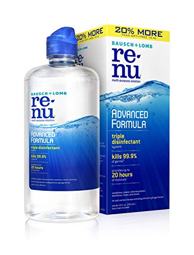 Bausch + Lomb renu Advanced Formula Multi-Purpose Eye Contact Lens Solution, 12 Ounce Bottle