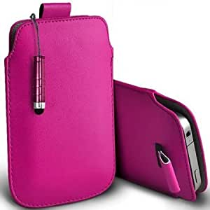 Cerhinu Shelfone Stylish Protective Leather Pull Tab Skin Case Cover For Motorola WX294 S Includes Stylus Pen Hot Pink...