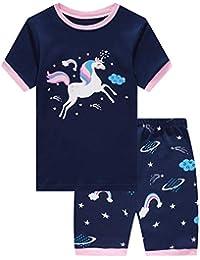 d5f733af9 Mermaid Sleepwear 100% Cotton Summer Short Toddler Pjs Clothes Shirts