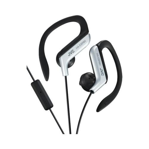 Silver Sportclip (Jvc Haebr80s Sport-Clip In-Ear Headphones With Microphone & Remote (Silver))