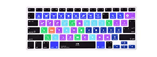 Premium Pro Tools Shortcuts Keyboard Cover for MacBook Air 13 & MacBook Pro 13 15 17(with or Without Retina Display 2015 or Older Version,US/EU Layout) - Final Cut Pro X