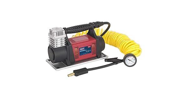Sealey mac06 Mini compresor de aire, Rojo, Juego de 12 piezas: Amazon.es: Bricolaje y herramientas