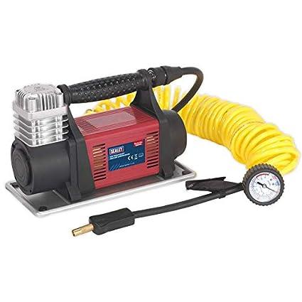 Sealey mac06 Mini compresor de aire, Rojo, Juego de 12 piezas