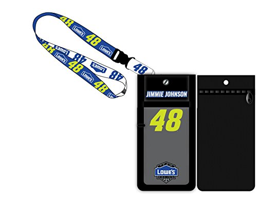 Jimmie Johnson #48 Deluxe Credential Holder - Johnson Jimmie Lanyard