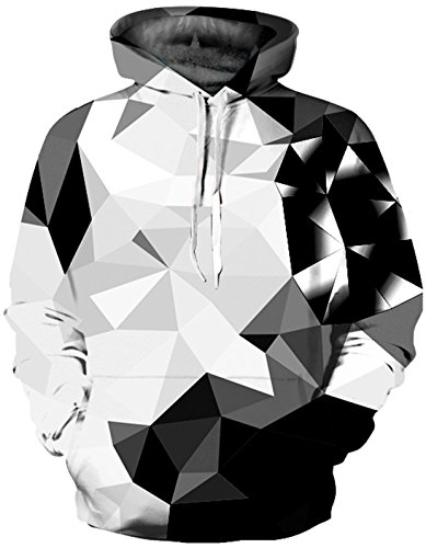 SAINDERMIRA Unisex Fashion 3D Digital Galaxy Pullover Hoodie Hooded Sweatshirt Athletic Casual...