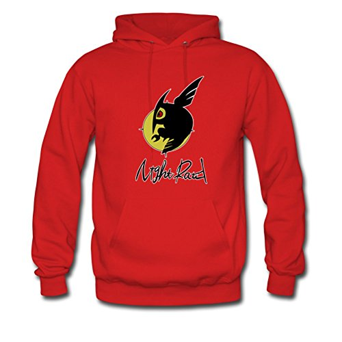 (Akame ga Kill Night Raid Custom Men's Hoody Hoodie Sweatshirt Sweater Red Large)