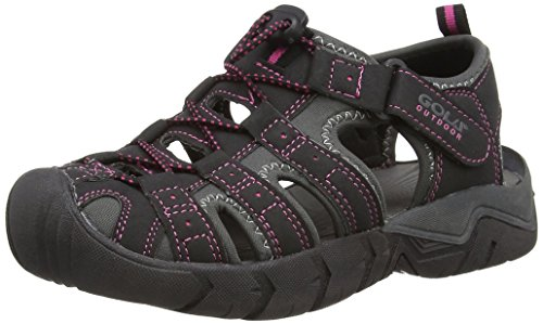 Gola Women's Shingle 2 Athletic Sandals Black (Black/Grey/Pink) WCJJd8