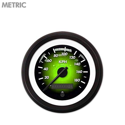 UPC 802269104860, Aurora Instruments (GAR2102ZMXHACCC) Pulsar Green Speedometer Gauge