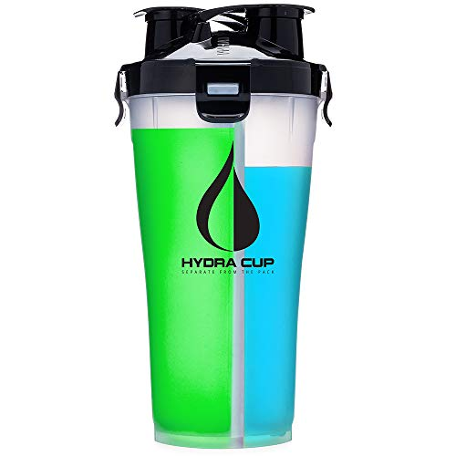 Hydra Cup 3.0-36oz High Performance Dual Shaker Bottle, Patented PRE + Protein Shaker Cup, Leak Proof, Awesome Colors, Save Time & Be Prepared.