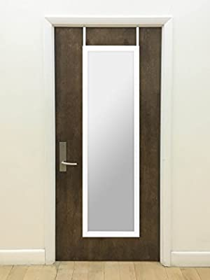 Over The Door Mirror, Rectangle Design with Full-Length Mirror, Over-the-Door Hardware Included