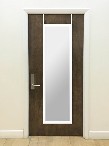 14 x 48-Inch Over The Door Mirror, Rectangle Design with Full-Length Mirror, Over-the-Door Hardware Included