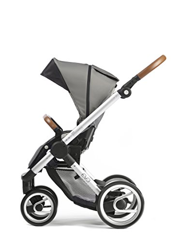 Mutsy Evo Urban Nomad Stroller, Silver Chassis, Light Grey by Mutsy (Image #2)