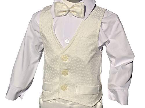 LULINA Abito da Battesimo (6pz), Vestito da Cerimonia Misto Cotone per Bambino, Color Panna (1965). 2