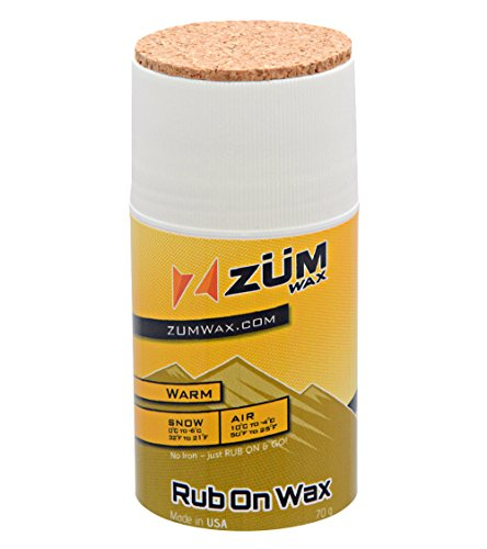 ZUMWax RUB ON WAX Ski/Snowboard - WARM Temperature - 70 gram - INCREDIBLY FAST!!! Excellent spring wax!!!