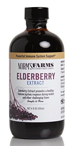 Organic Elderberry Extract (Norm's Farms Elderberry Extract, 8 Ounce Jar)