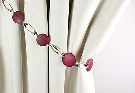 1 x Black Modern Earl Designer Beaded Rope Curtain Tie Back Tieback