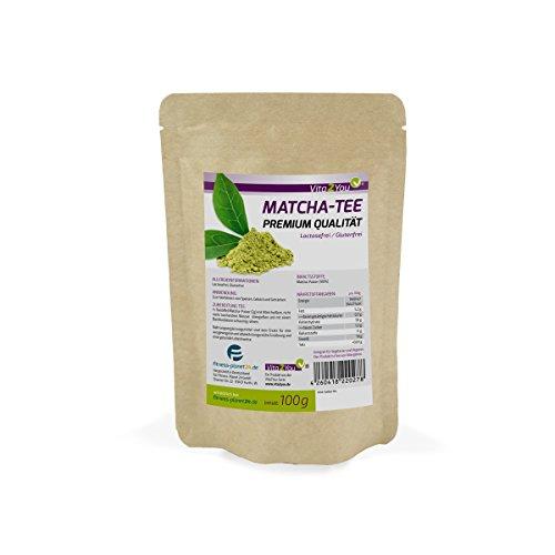 Vita2You Matcha Tee 100g (Original Grüner Matcha) im wiederverschließbaren Zippbeutel - Premium Qualität