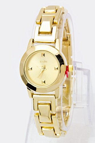 Emerald Fine Watch (Karmas Canvas Pyramid Stud Dials Skinny Watch (Gold))