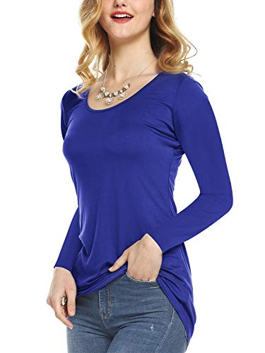 603dfa06091 Jual Amoretu Womens Scoop Neck Short Sleeve Tee Tops Cotton T-Shirts ...