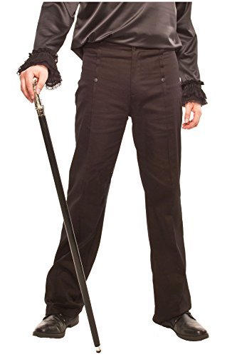 Altissimo Men's Black Steampunk High Waist Pants. Sizes 26