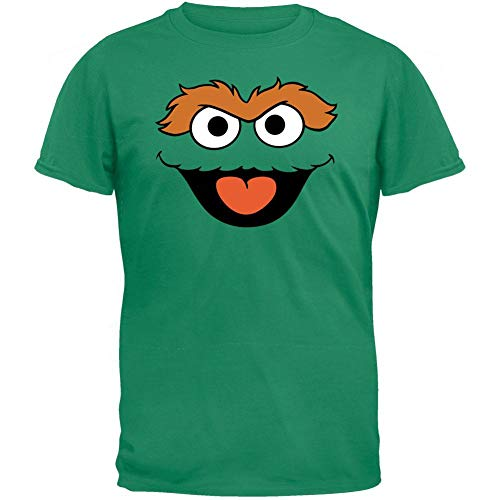 Sesame Street - Mens Oscar Head T-shirt Small Green ()