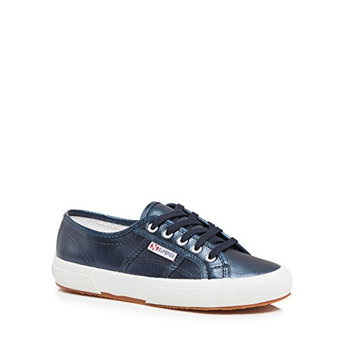 Up Superga Trainers Metallic Blue 'Cotmetu' Womens Lace wWB4ZxnCFq