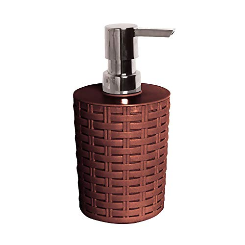 Wicker Soap Dispenser Clean Finish Elegant Look Beautiful Design Our Liquid Soap Dispensers Made to Last Due to Its Durable Material with Its Beautiful and Elegant Design Plastic (Brown)