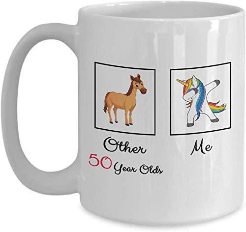 Gardesse Taza de café de Unicornio - Taza de 50 cumpleaños ...