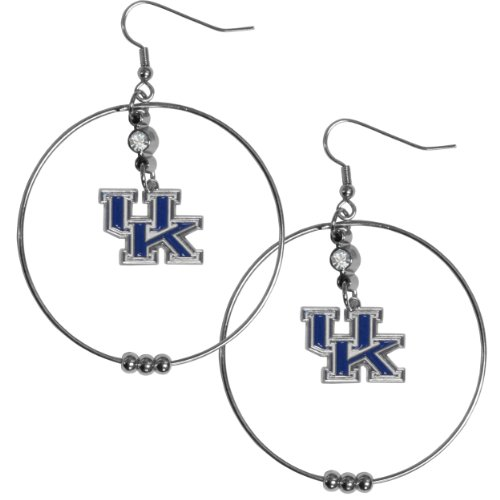 NCAA Kentucky Wildcats Hoop Earrings, 2-Inch