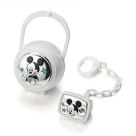cadena portachupete con Caja de Plata Bianco /Disney Mickey/ Valenti /& Co/ /Clip chupete