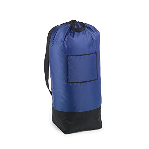 HOMZ Large Heavy Duty Laundry Bag, Navy and Black