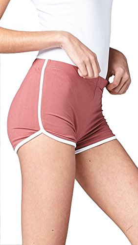 Conceited Womens Athletic Running Short Shorts With Active Racer Stripe (4-Sizes) by (Medium, Wild (Racer Fit Shorts)