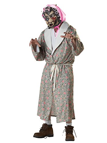 [Totally Ghoul Adult Mens & Womens Wolf Granny with Costume Big Bad Wolf Mask] (Big Bad Wolf Costume Granny)