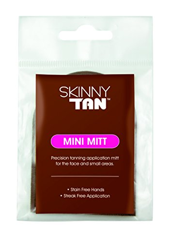 Skinny Tan Mini Mitt For Face - Double Sided Tanning Lotion Applicator Mini Facial Tanning Mitts for Sunless Tan Lotions, Streak-Free Applicator - Skinny Get Face