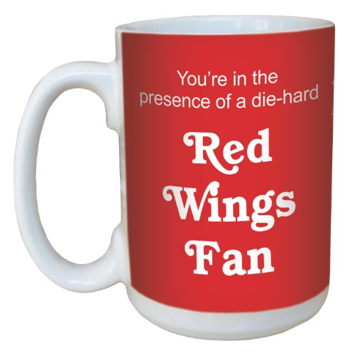 - Tree-Free Greetings lm44178 Red Wings Hockey Fan Ceramic Mug with Full-Sized Handle, 15-Ounce