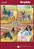Simplicity Wizard Of Oz Costume Sewing Pattern 2548. Dog Sizes XS; S; M Tin Man; Scarecrow; Glenda Good Witch; Bad Witch; Dorothy Costumes
