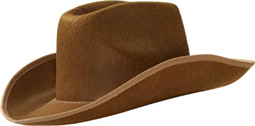 Brown Felt Cowboy Costume Hat Adult Size: One Size