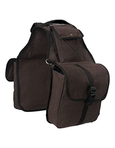 - Tough-1 Canvas Saddle Bag for Horses - Brown